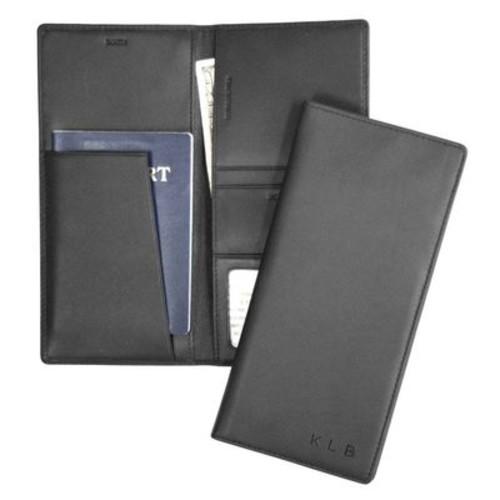 Personalized Royce Nappa Leather RFID Blocking Passport Ticket Holder