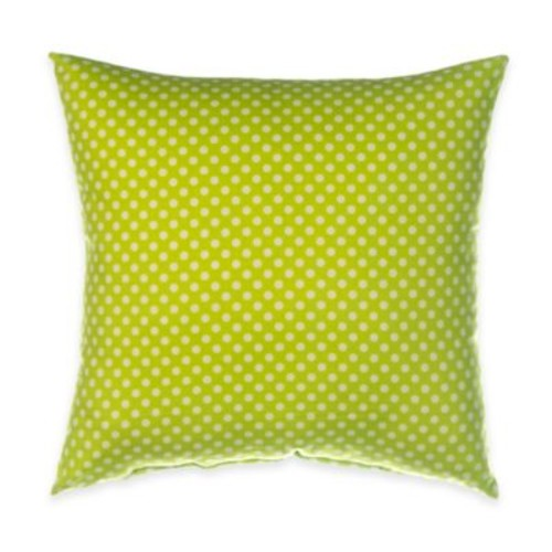 Glenna Jean Blossom Polka Dot Throw Pillow in Green