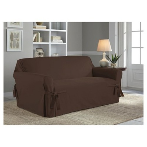 Serta Relaxed Fit Duck Furniture Slipcover, Sofa 1-Piece Box Cushion