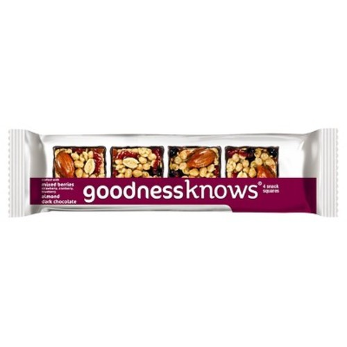 Goodnessknows Almond Dark Chocolate Mixed Berries Square Snacks - 6oz - 5ct