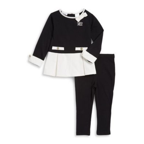 Baby Girl's Two-Piece Colorblock Top and Pants Set