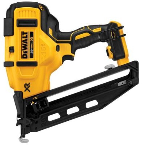 DEWALT 20-Volt MAX XR Lithium-Ion Cordless 16-Gauge Angled Finish Nailer (Tool-Only)