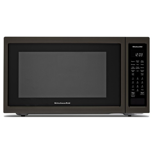 KitchenAid 1.5 cu. ft. Countertop Microwave in Black Stainless with PrintShield
