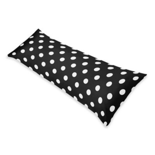 Sweet Jojo Designs Hot Dot Body Pillowcase in Black/White