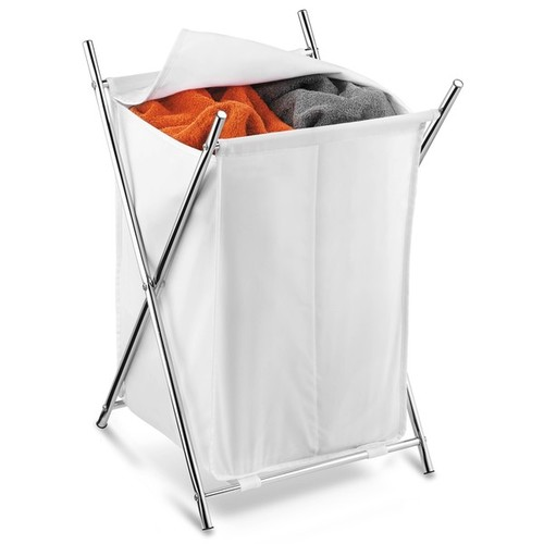 Honey Can Do HMP-01125 Chrome Double Folding Hamper