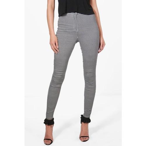 Alex Gingham Skinny Tube Jeans