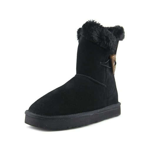 Style & Co Tiny Women Round Toe Suede Black Winter Boot