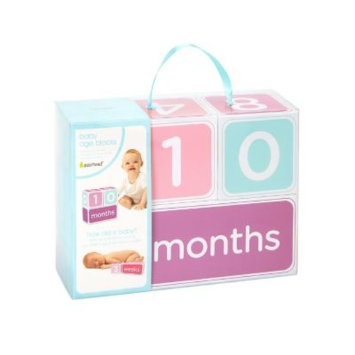 Pearhead 3-Piece Milestone Block Set in Pink