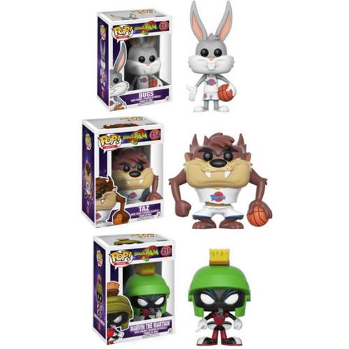 Funko POP! Movies Space Jam Collectors Set; Bugs, Taz, Marvin