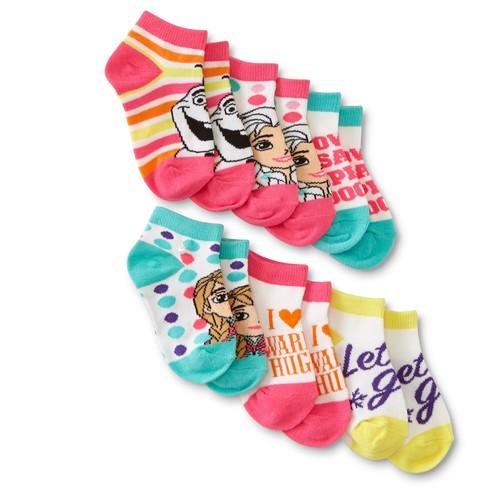 Disney Frozen Toddler Girls' 6-Pairs Low-Cut Socks - Assorted