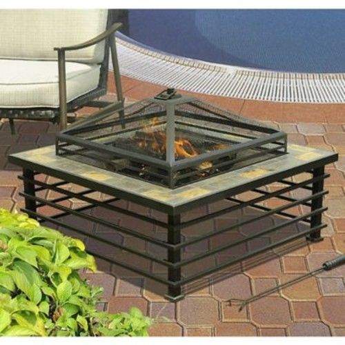 Sunjoy Steel Chambray Fire Pit