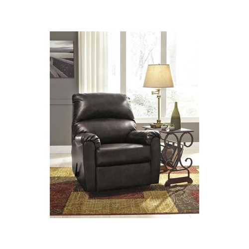 Signature Design by Ashley Talco Rocker Recliner in Gunmetal Faux Leather