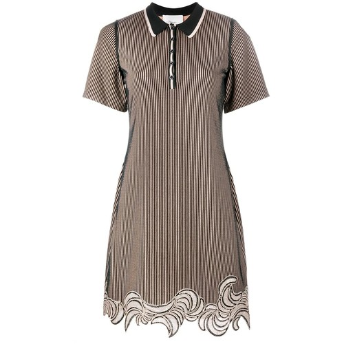 3.1 PHILLIP LIM Embroidered Hem Polo Dress