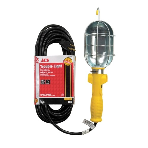 Ace Trouble Light with Metal Cage - 50 ft. of 16/3 SJT