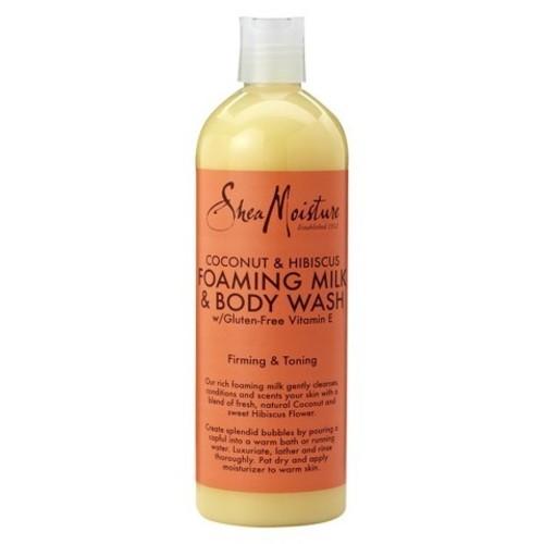 SheaMoisture Coconut & Hibiscus Foaming Milk & Body Wash, 16 fluid oz, 1 Bottle