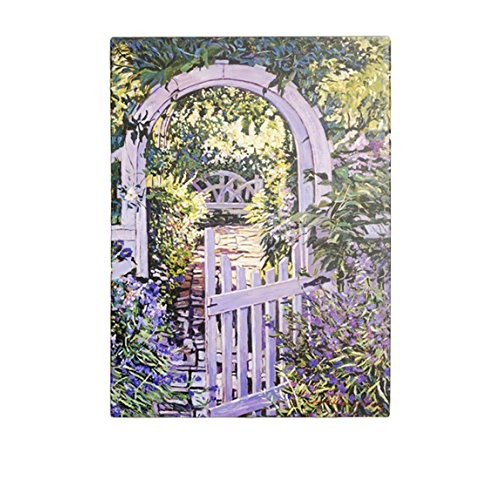 Country Garden Gate by David Lloyd Glover, 18x24-Inch Canvas Wall Art [18 by 24-Inch]