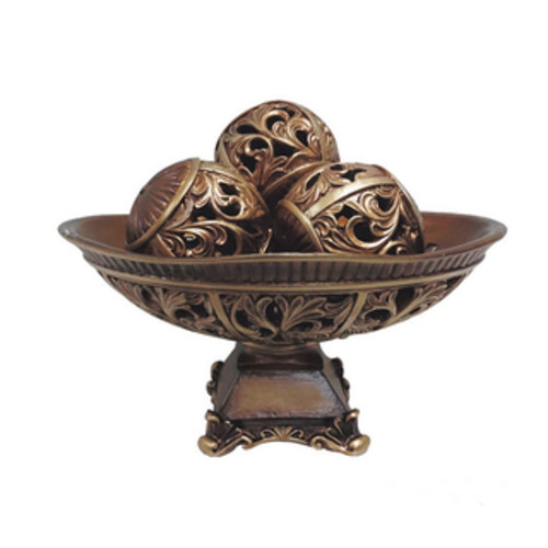 Sterling Industries Baskets & Bowls Sterling Fortress Lidded Bowl