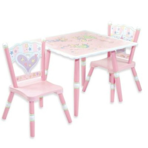 Levels Of Discovery Fairies 3-Piece Table & Chair Set in Pink