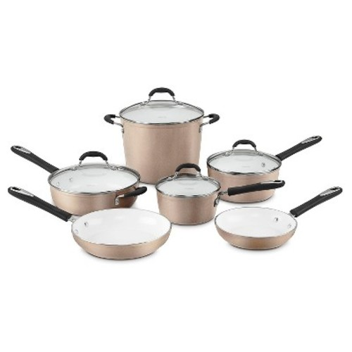 Cuisinart Elements Nonstick 10 Piece Cookware Set w/cover - Champagne 59-10CH