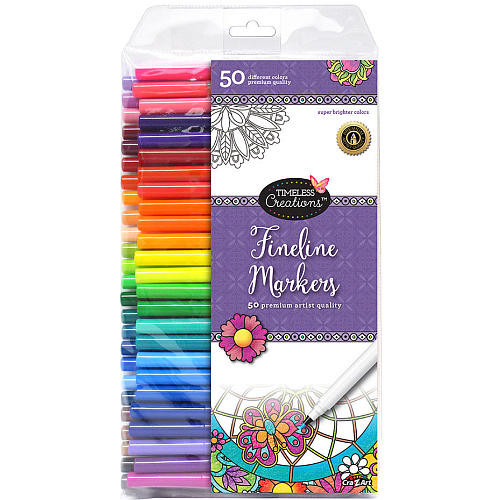 Cra-Z-Art Timeless Creations Fineline Markers - 50 Count