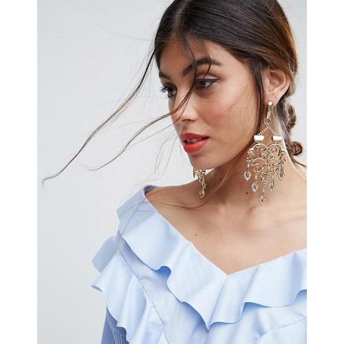 ASOS Filigree Statement Filigree Chandelier Earrings
