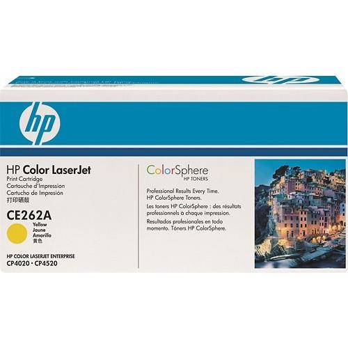 HP - CE262A High-Yield Toner Cartridge - Yellow