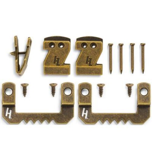 HangZ Canvas Flat Mount Saw Tooth with Hook Kit 15 lb. Box