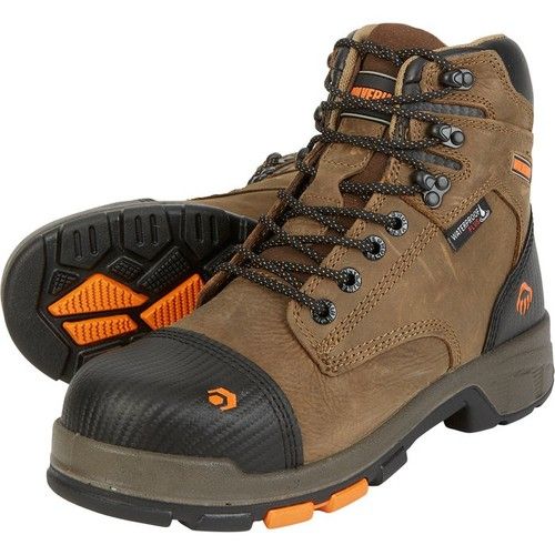 Wolverine Mens Blade LX 6in. Waterproof Composite Toe Work Boots  Brown, Size 11 1/2, Model# W10653