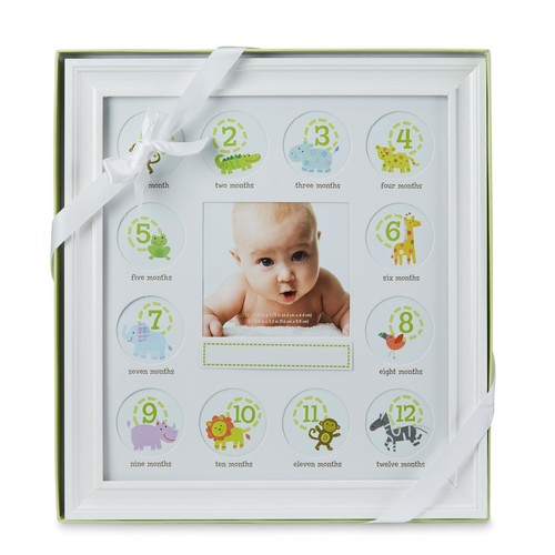 Stepping Stones Baby's First Year Picture Frame & Mat
