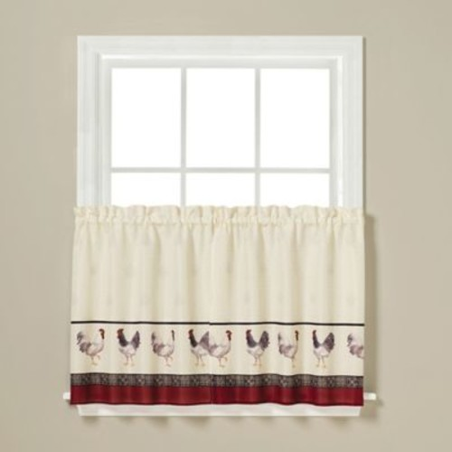 Saturday Knight French Country Tier Curtain; 36'' Tier Pair