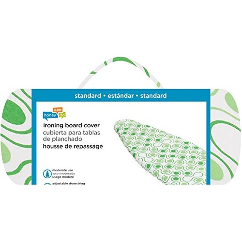 Honey-Can-Do IBC-01894 Standard Ironing Board Cover, Green Dot [Green, Standard]