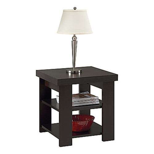Altra Furniture Hollowcore End Table, Black Forest