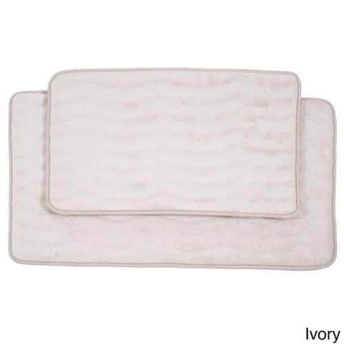 Lavish Home Soft Memory Foam Bath Mat 2-piece Set