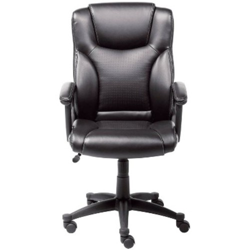 Executive Chair Black Leather - Serta