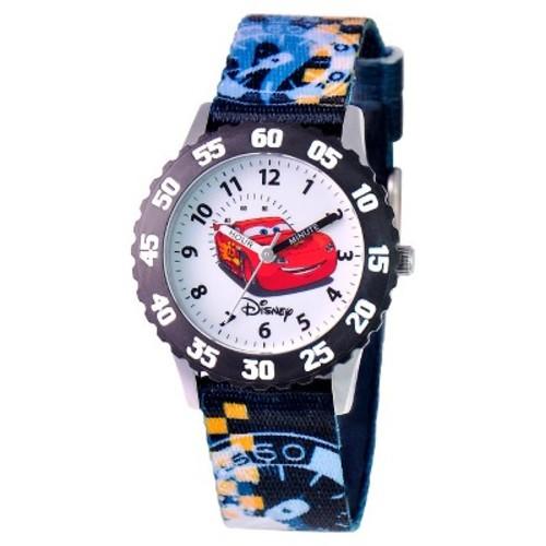 Boys' Disney Cars Stainless Steel Time Teacher with Bezel Watch