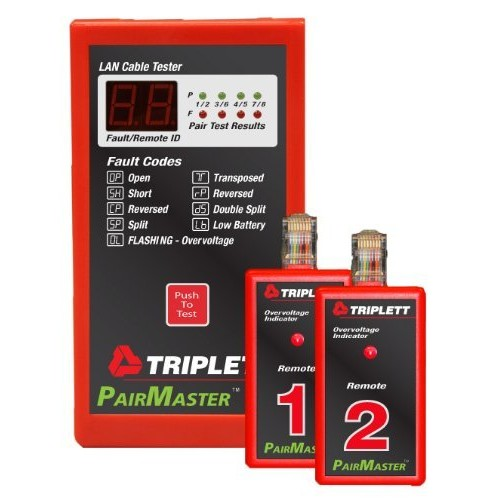 Triplett PairMaster 3240 LAN Cable Test Set with 2 Remotes (Discontinued by Manufacturer)