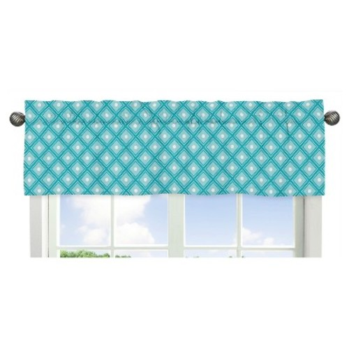 Turquoise & White Mod Elephant Comforter Set (Twin) - Sweet Jojo Designs