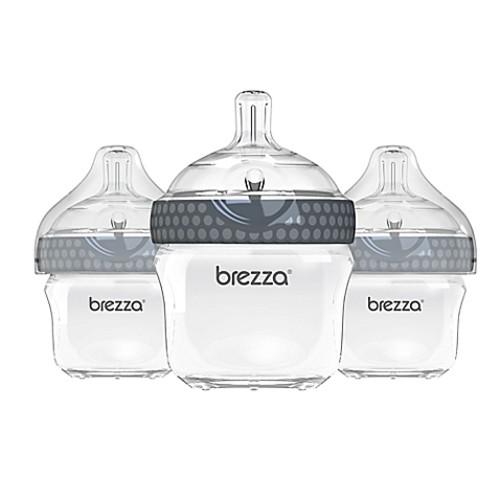 Baby Brezza 3-Pack 5-Ounce Polypropylene Bottles in Grey