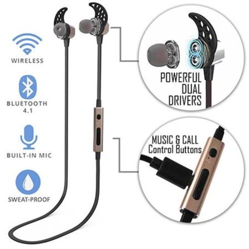 TRAKK Tech METAL In-Ear Premium Wireless Bluetooth Headphones with Mic, G