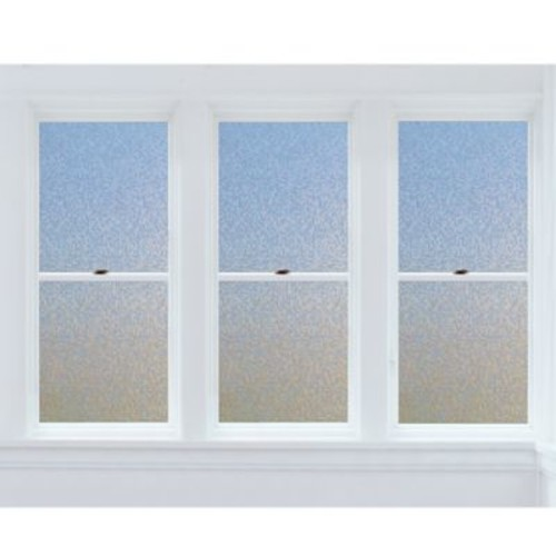Cubix Premium Static Cling Window Film in Blue/Beige