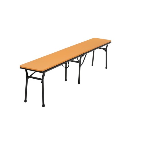 Cosco Home and Office Products 6 ft. Orange Center Fold Tailgate Bench with Carrying Handle, 2 Pack