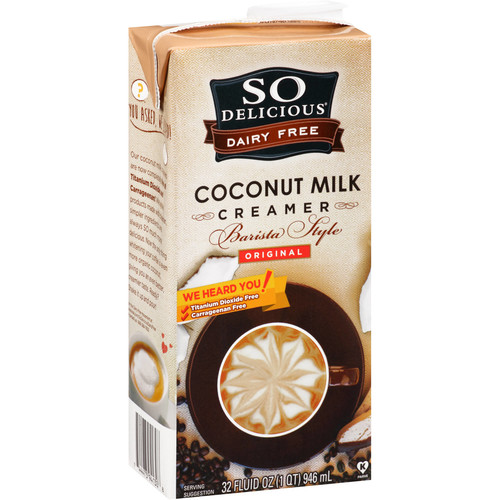So Delicious Coconut Milk, Original Creamer, Barista Style, Shelf Stable 32 Ounce, (Pack of 6) (Packaging May Vary)