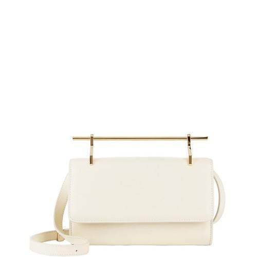 M2MALLETIER Fabricca Ivory Leather Shoulder Bag