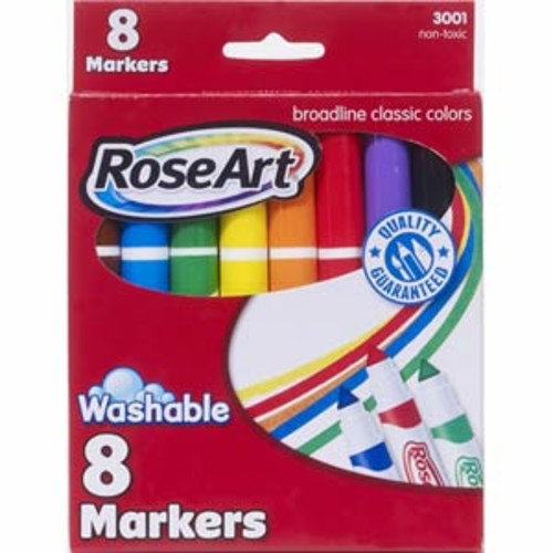 RoseArt 8ct Washable Broadline Markers