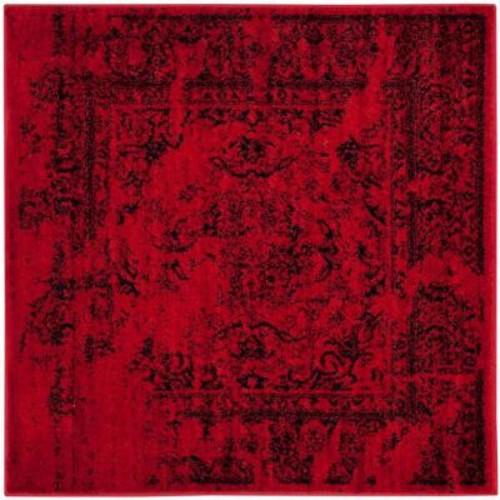 Safavieh Adirondack Red/Black 4 ft. x 4 ft. Square Area Rug
