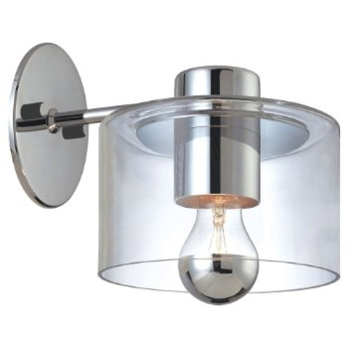 Transparence Wall Sconce [Shade Color : Clear; Finish : Polished Chrome]
