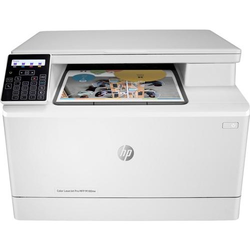 HP - LaserJet Pro MFP M180nw Color Wireless All-In-One Printer - White