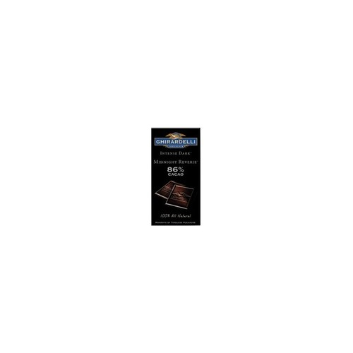 Ghirardelli Intense Dark Midnight Reverie Chocolate Bar, 3.1 Ounce -- 12 Per Case.