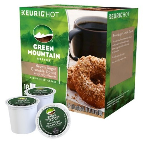 Green Mountain Coffee Brown Sugar Crumble Donut Medium Roast Coffee K-Cup pods 18ct
