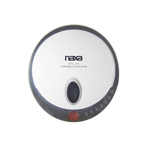 Naxa NPC-319 Slim Personal Compact Disc Player With Earbuds, Black